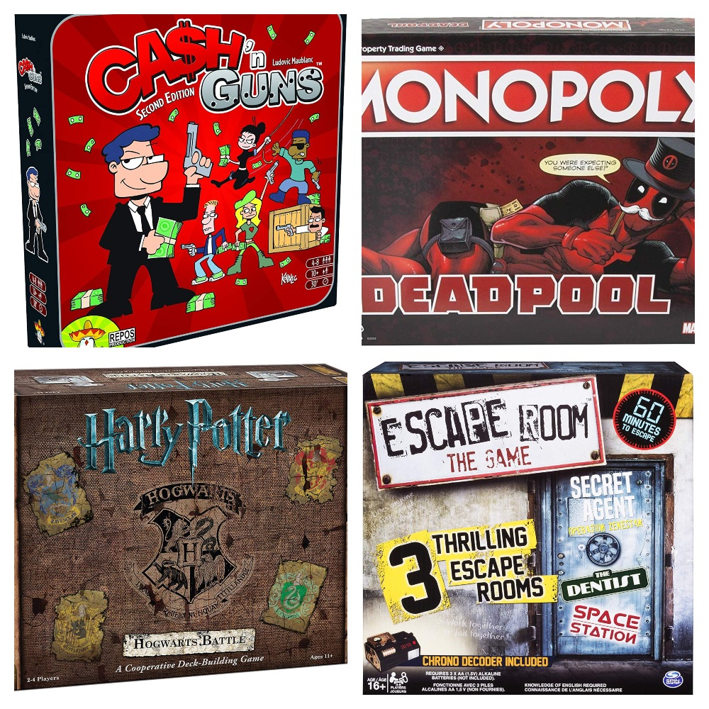 Collage of board games gifts that men really want