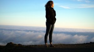 who I am woman on mountain