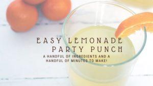 Easy Lemonade PArty Punch