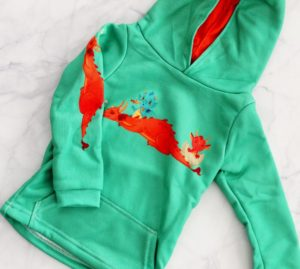 flatlay dragon shirt tiny human kids clothing 1