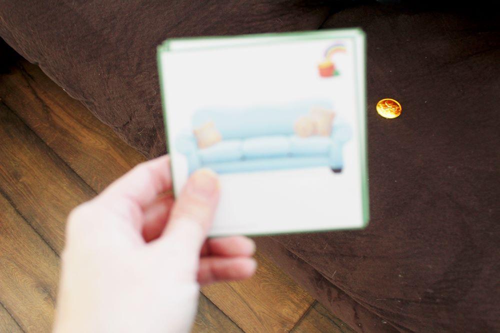 gold coin hidden and leprechaun scavenger hunt card 1
