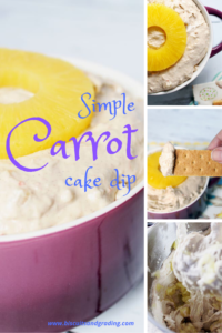 simple carrot cake dip