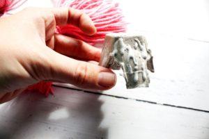 tacky glue on egg carton for craft 1