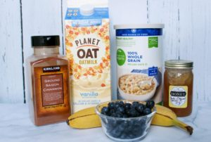 vanilla blueberry oatmeal ingredients 1