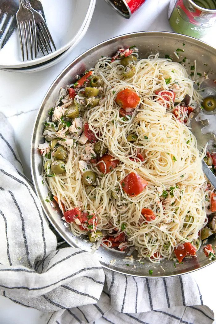 15 minute angel hair with chicken recipe