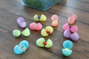 Easter eggs filled with smal items