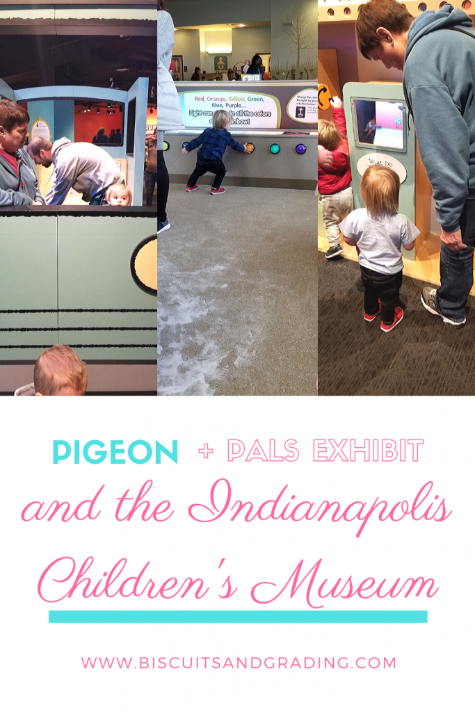 pinterest image for pigeon and pals exhibit