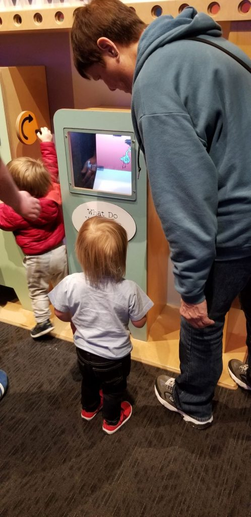 pigeon flipbooks at children's museum