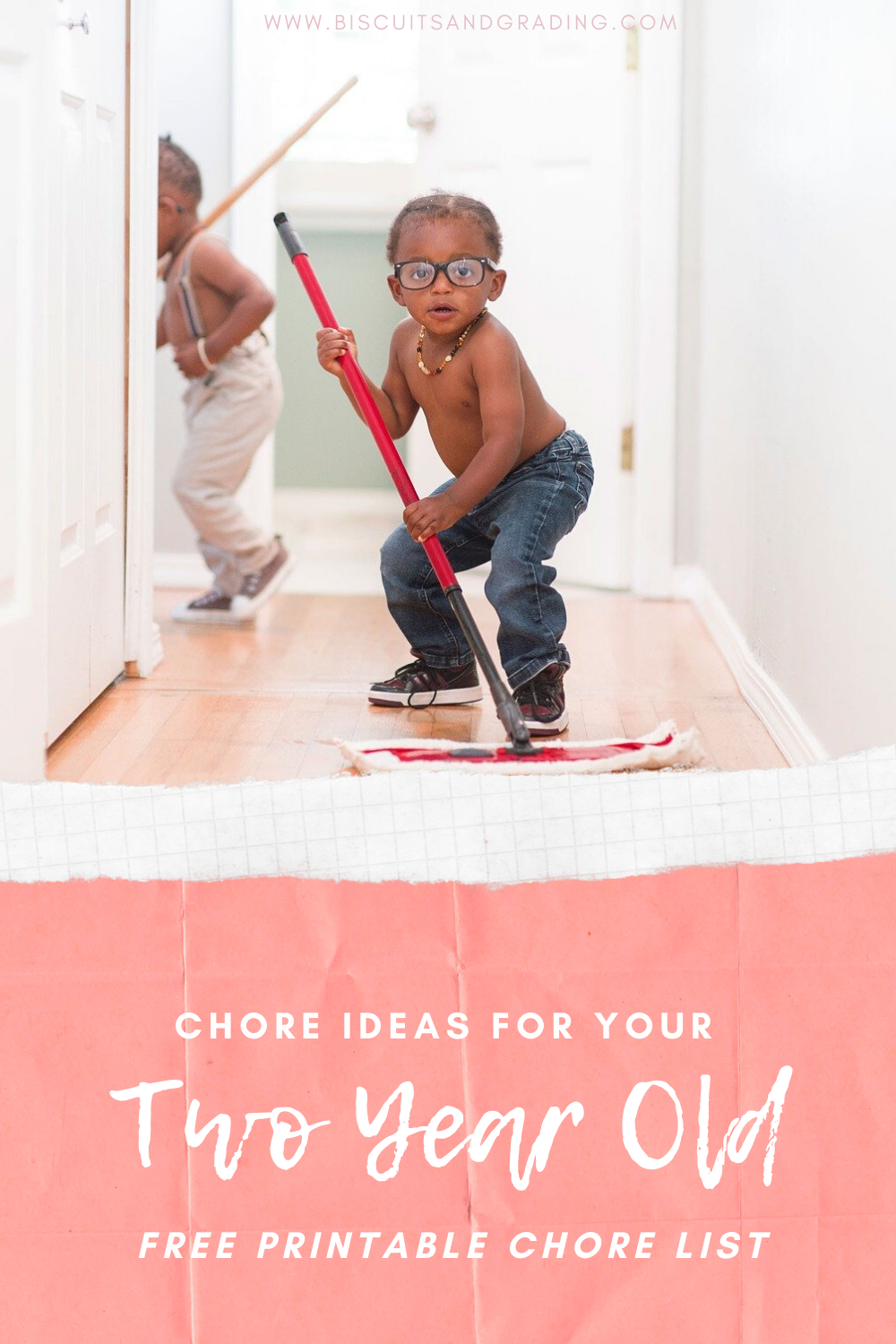 pinterest image for chores for two year olds