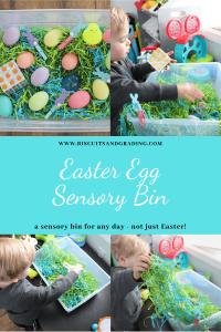 easter egg sensory bin pinterest