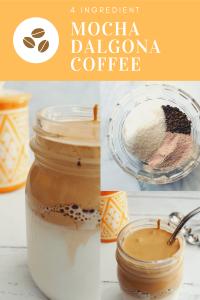 mocha dalgona coffee