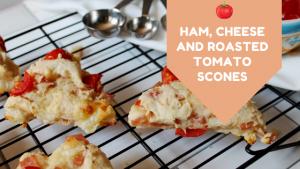 Ham, Cheese and tomato scones