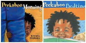 peekaboo books for babies and toddler with black main characters