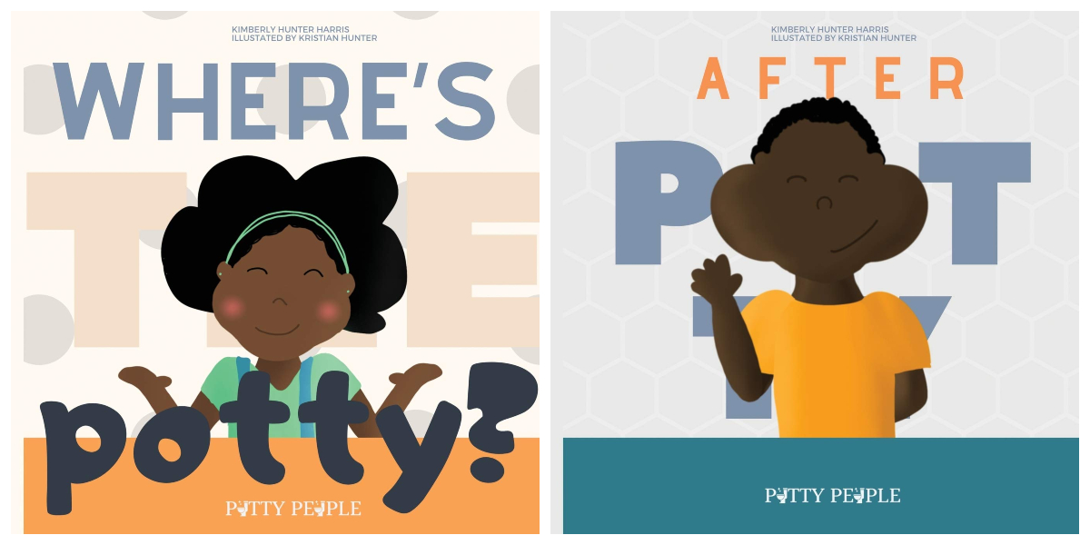 potty training books for babies and toddler with black main characters