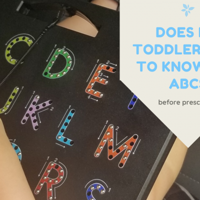 Learning the ABCs: does my toddler need to master them before preschool?