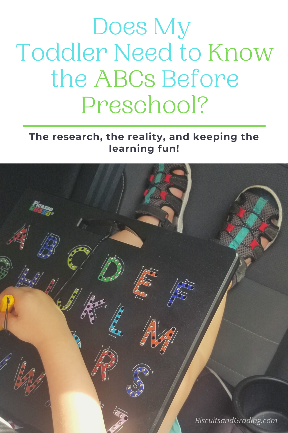 learning the abcs before preschool