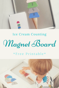 Ice Cream Counting Magnet Board