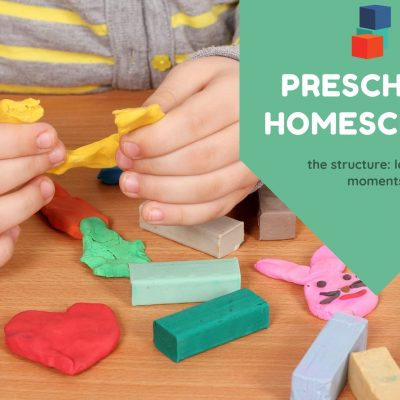 Learning Moments in Preschool Homeschool