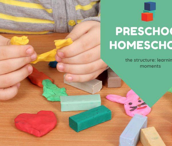 Learning Moments in Preschool Homeschool