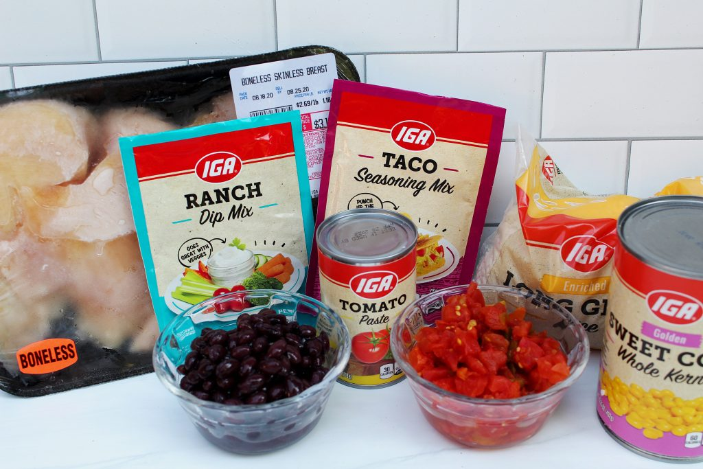 Taco Chicken Slow Cooker Recipe ingredients