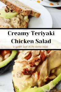 creamy chicken teriyaki salad