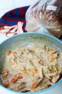 creamy teriyaki chicken salad in bowl 1