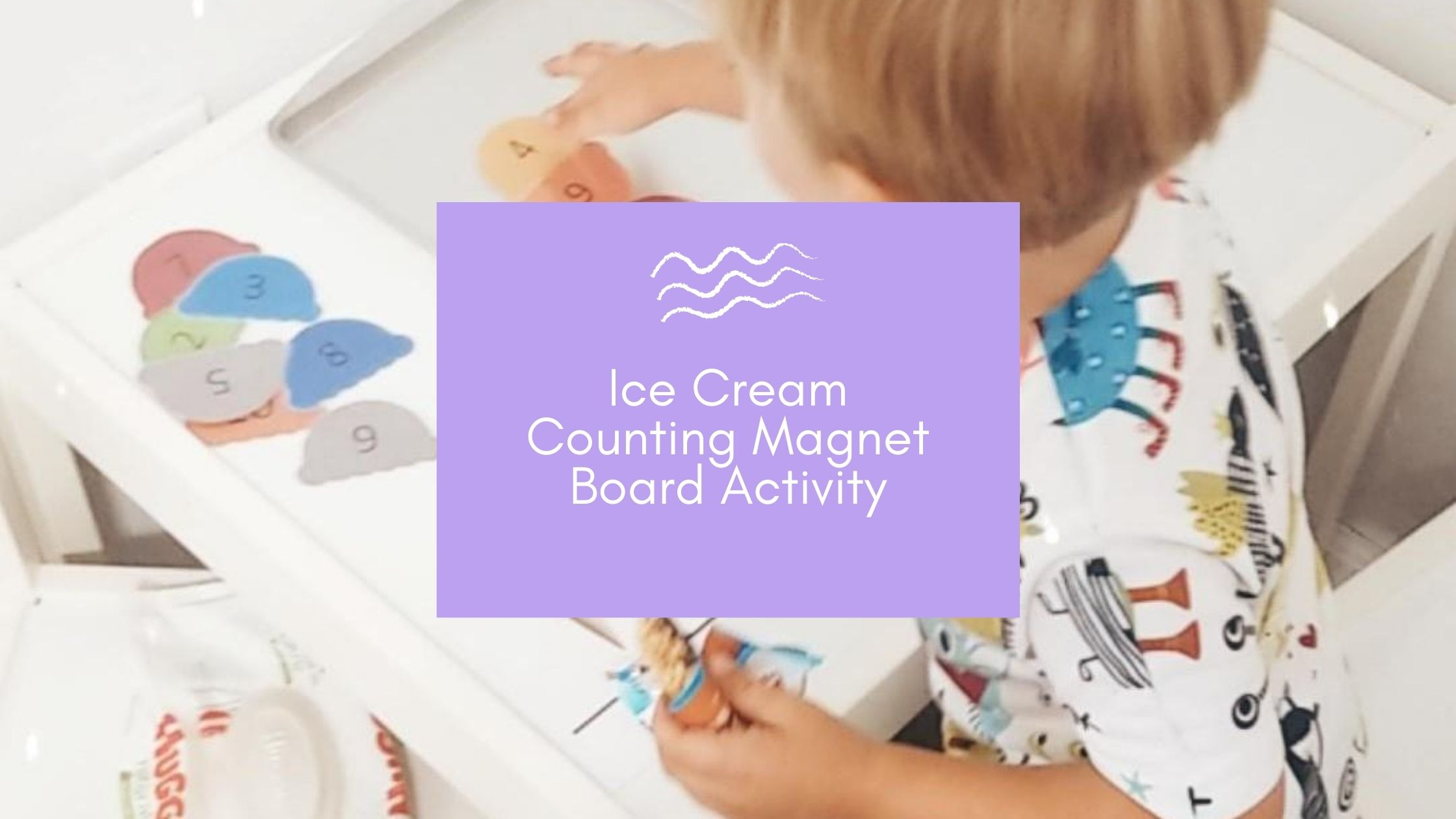 Ice Cream Cone Number Recognition and Pattern Magnet Board