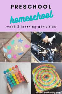 _preschool homeschool activities week 3