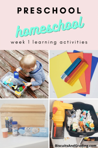 preschool homeschool week 1
