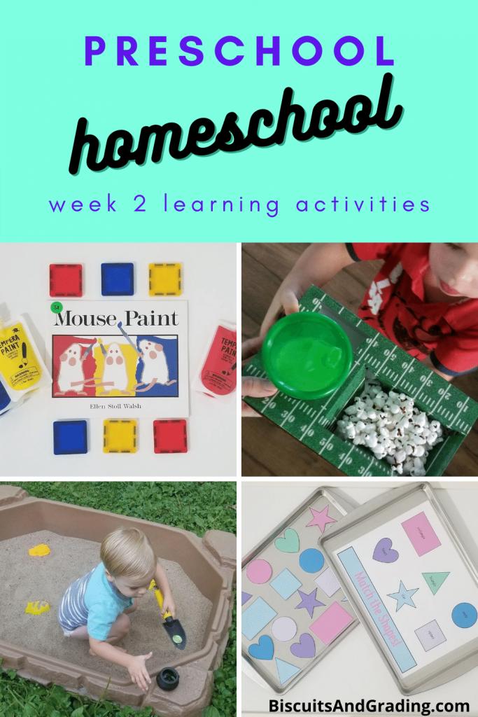 preschool homeschool week 2