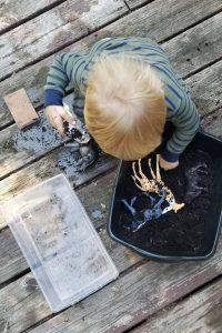 toddler playing with animal washing station preschool homeschool week 3 1
