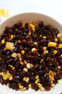black beans and corn with sweet potato tacos seasoning 2