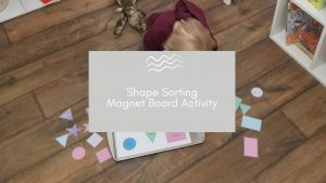 Shape Sorting Magnet Board Activity blog banner