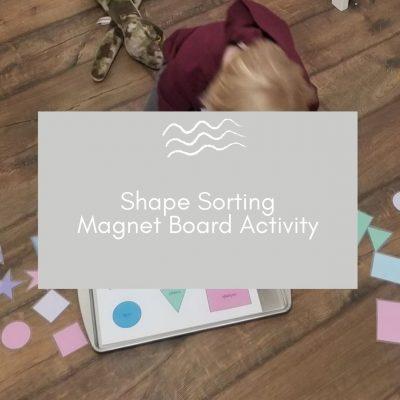 Shape Sorting Magnet Board - Free Printable!