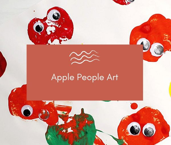 Apple Stamping – a Simple Preschool Fall Craft