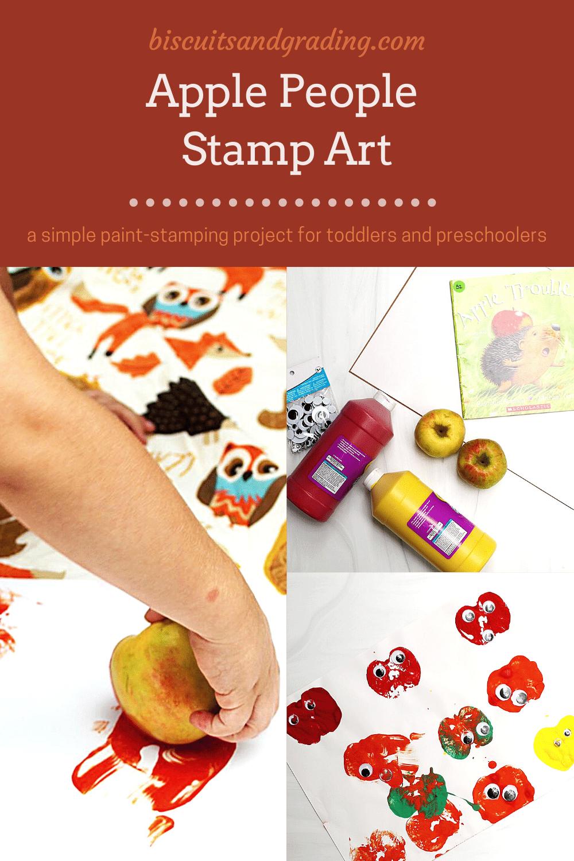 apple people stamping art pinterest