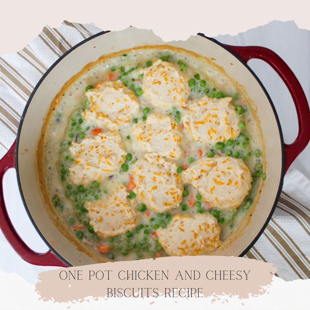 One Pot Chicken and Cheesy Biscuit Recipe