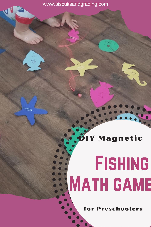 diy magnetic fishing math game pinterest