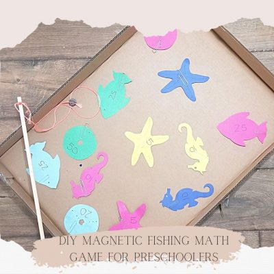 DIY Magnetic Fishing Math Game for Preschoolers