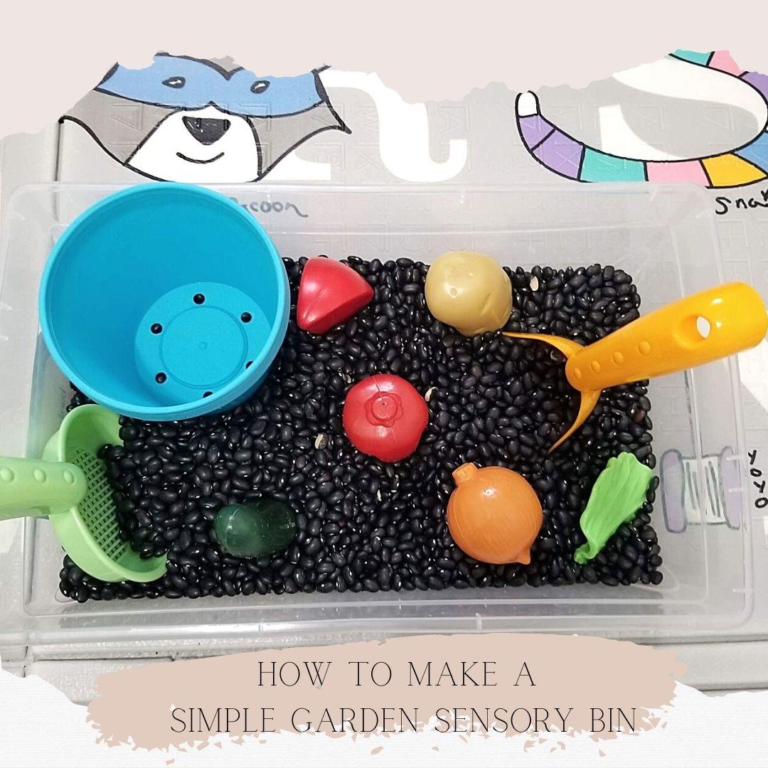 Gardening Sensory Bin – Easy Fun for Toddlers!